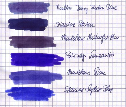 verschieden Blautöne im Vergleich