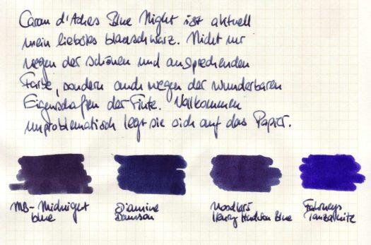 Caran d'Ache Blue Night Einführung