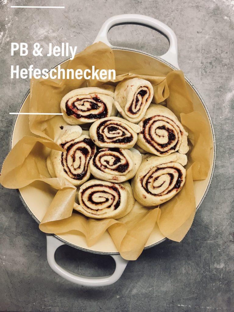 Hefeschnecken genussgeeks Peanutbutter und Jelly