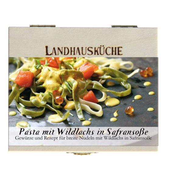 Genusswerk feuer & Glas Pasta mit Wildlachs