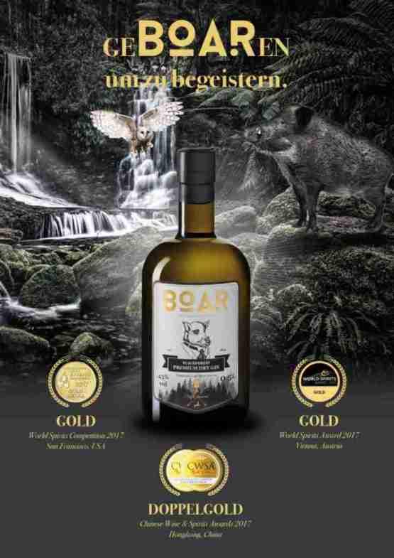 Genusswerk Boar Gin Auszeichnungen