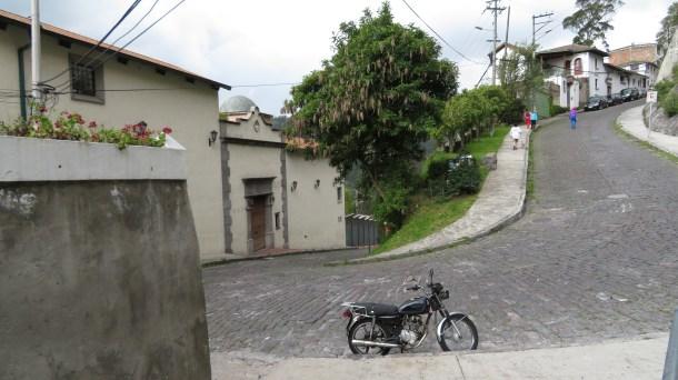Steep streets of Guápulo
