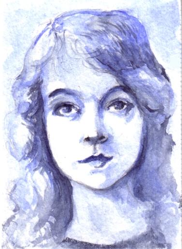 """2.5"""" x 3.5""""  watercolor"""