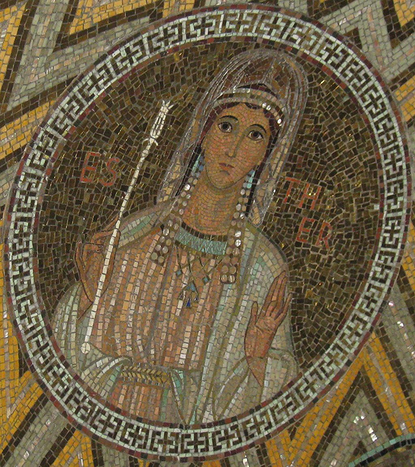Photo of Tile mosaic of Queen Esther