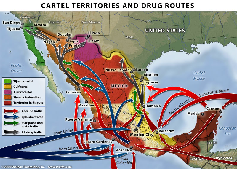 Drug Cartel Map « EXPAT in BAJA Mexico on