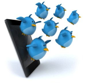 Tweets flying at you