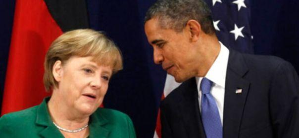 Angela Merkel et Barack Obama lors du G20 de Cannes, en novembre 2011. ©REUTERS