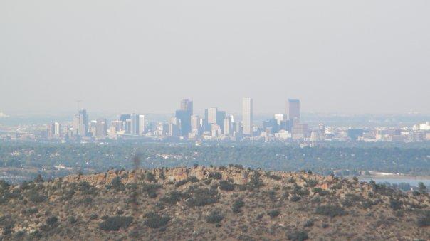 Denver skyline from a distance