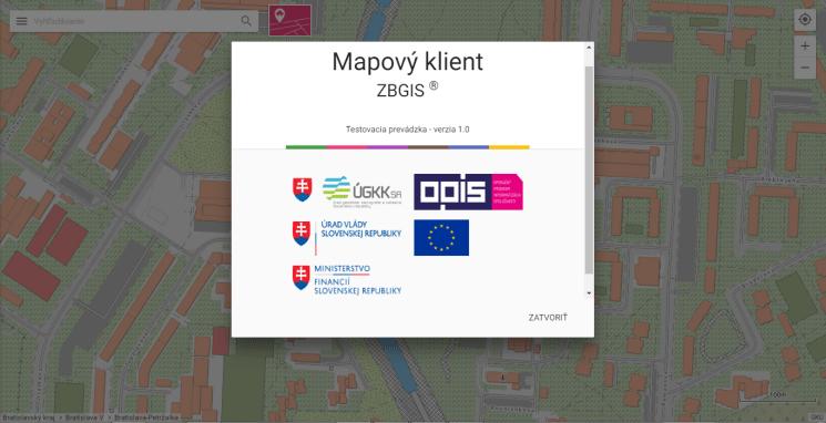Testovacia prevádzka webovej aplikácie Mapový klient ZBGIS od 30. júna 2017