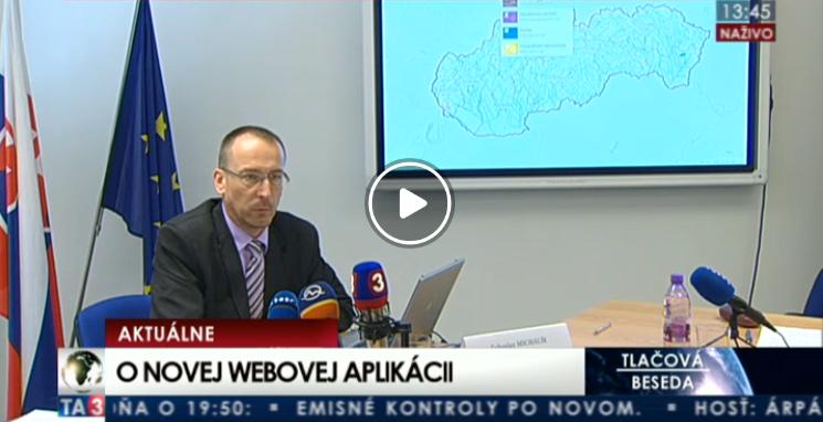 Ľuboslav Michalík na tlačovej besede prezentoval funkcie nového Mapového klienta ZB GIS na internete