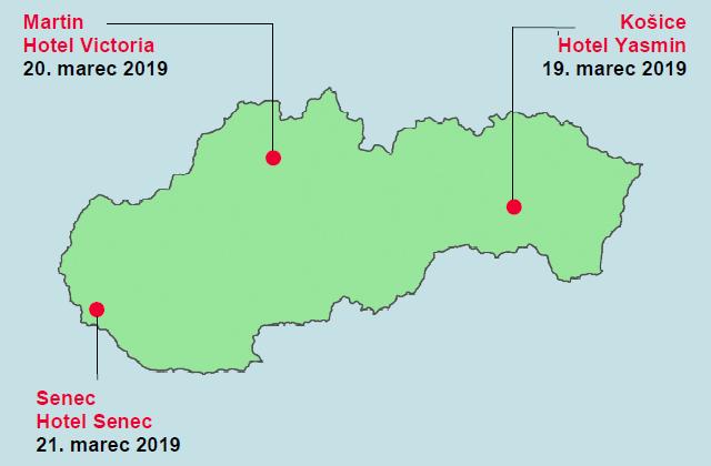 Spoločnosť GEOTECH Bratislava, s.r.o. organizuje od 19. do 21. marca 2019 v troch slovenských mestách bezplatnú prezentáciu výrobného programu značky Leica Geosystems.
