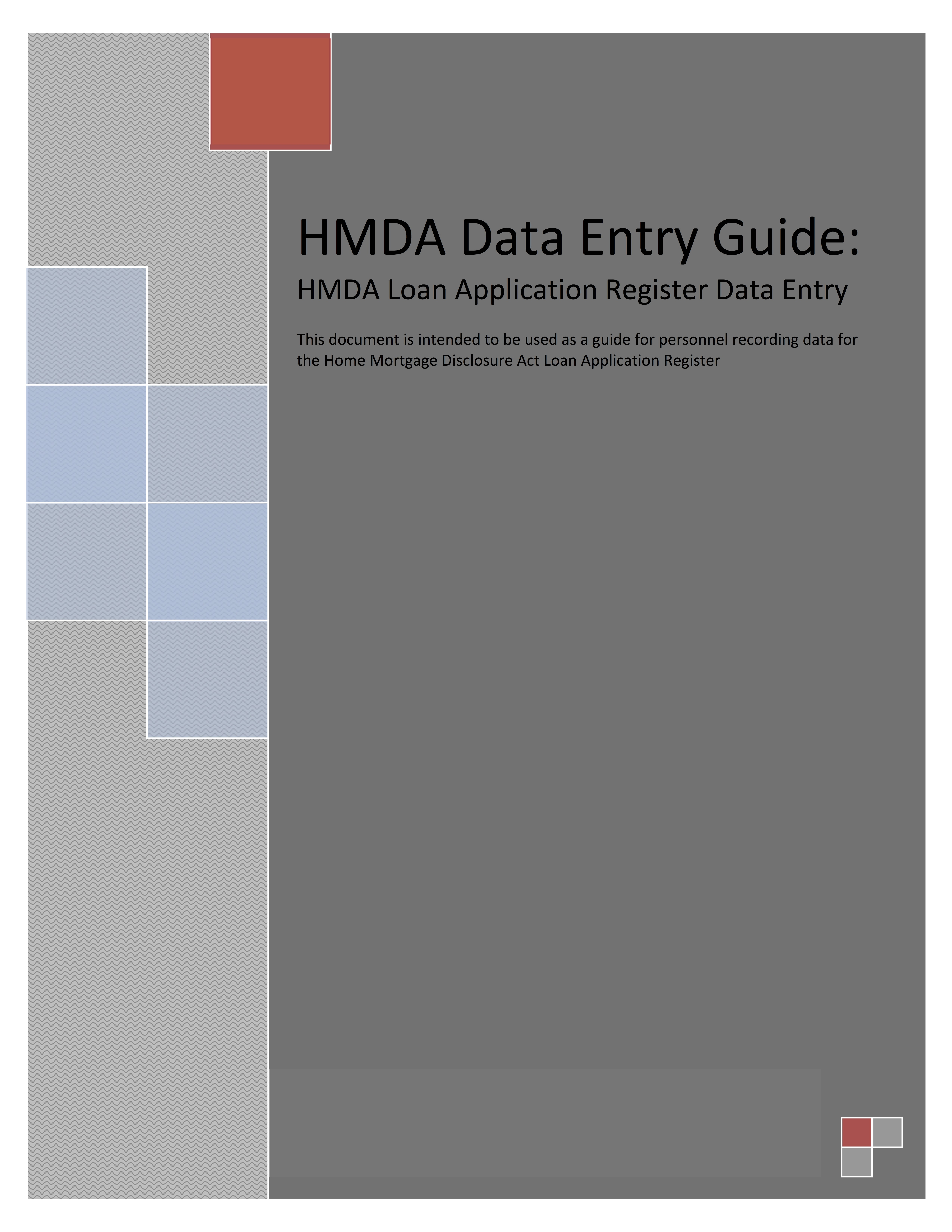 Cra And Hmda Data Entry Guides