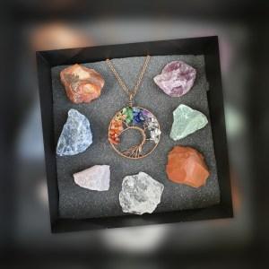 bien-être-collier-amour-7-chakras-pierre-naturelle-quartz-rose-mineraux-lithotherapie-soins
