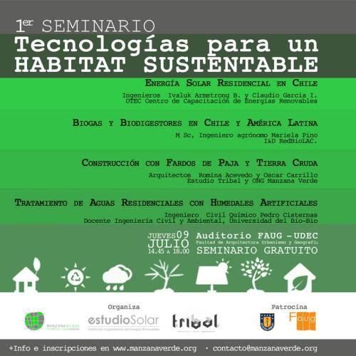 1º Seminario Tecnologías para un Habitat Sustentable
