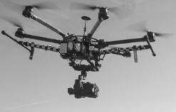 Vue d'un drone