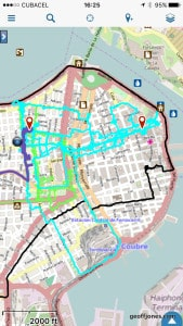 Gaia map of my Havana Walking