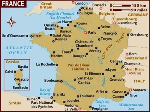 Vezelay France Map.Nous Sommes En France