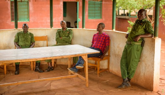 The Wildlife Works Rangers and Joseph, Wildlife Works Community Manager.