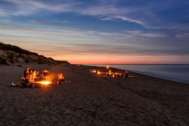 Camp Fires on the Cape Cod National Seashore