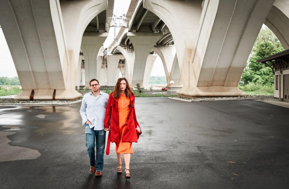 Engagement shot mimicking Hollywood style.