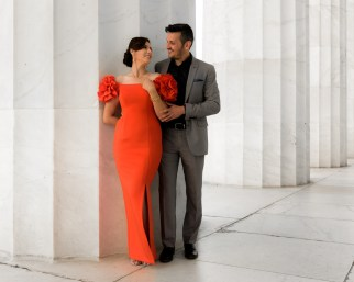 Geoff Livingston photographed this engaged couple in Washington, DC.