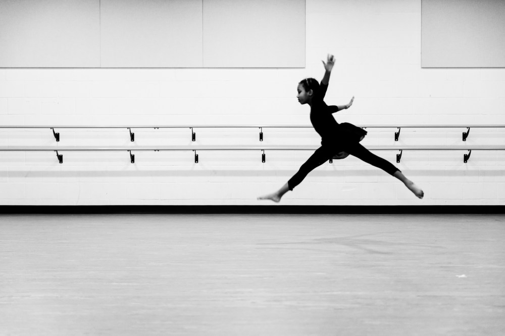 A modern dance class at Local Motion Project