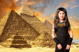 Daughter Soleil as Cleopatra