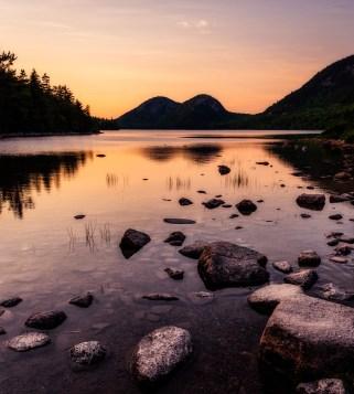 Jordan Pond at Sunset (Acadia)