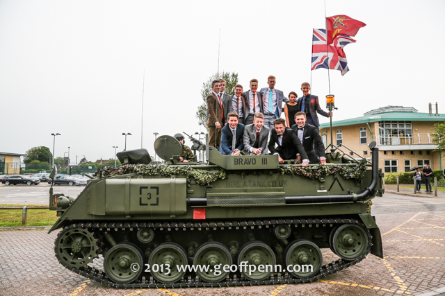 Arriving at the School Prom in a tank