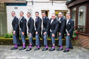 The Groomsmen and their socks