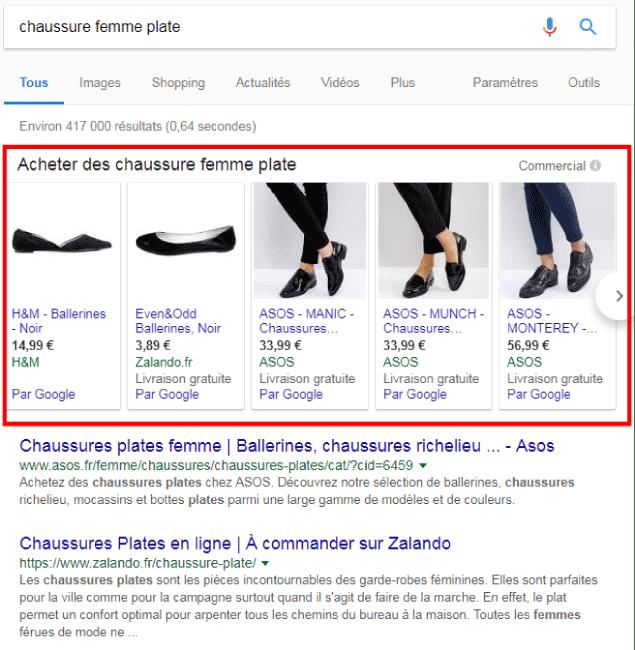 Prestation webmarketing - google adwords shopping