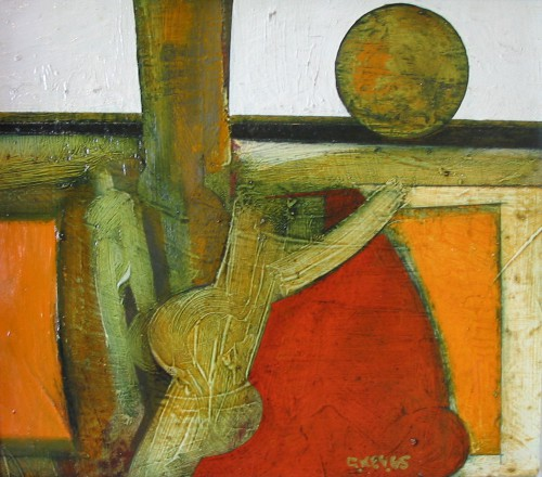 tree figures, oil 1965