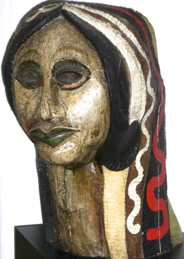 queen head, polychrome wood 1978