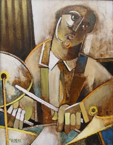 drummer, oil 1997