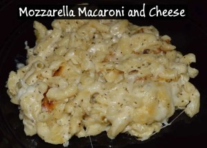 Mozzarella Macaroni and Cheese