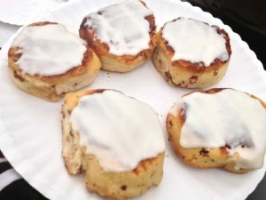 Pie Iron Cinnamon Rolls