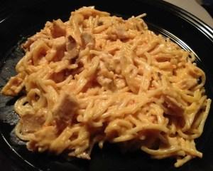 Slow Cooker Cheesy Chicken Spaghetti