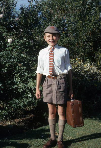 Geoff Wells as a kid