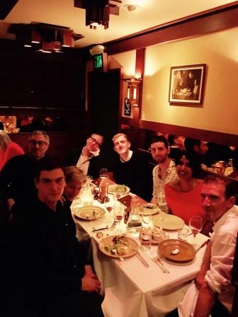 Pendant le diner, après ma conférence à Berkeley, avec Michael Lucey, Didier Eribon, Judith Butler, Edouard Louis, Debarati Sanyal, Stéphane Ré, Damon Young,