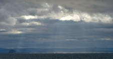 Anstruther - sunbeams and Bass Rock