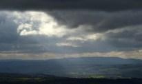Sunbeams over Radnor Forest