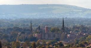 Three miles to Shrewsbury's spires