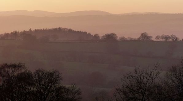 Early evening over the Shropshire hills
