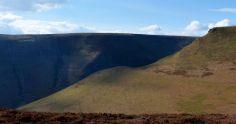 A sunlit ridge