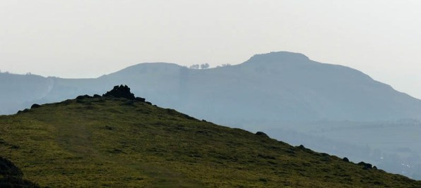 Stapely Hill cairn and Lan Fawr