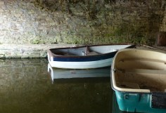 Inside the boathouse