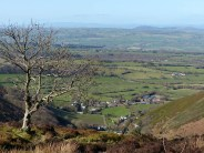 Looking down on Stiperstones village