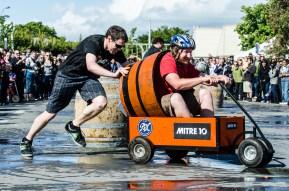 Barrel Cart racing in town 2011