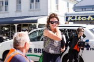 Toast Martinborough boss Rachael Fletcher spotted outside The Village Café..