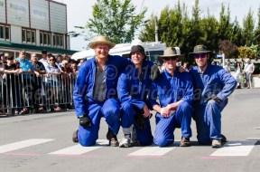 The Te Kairanga team practising the winners pose!!